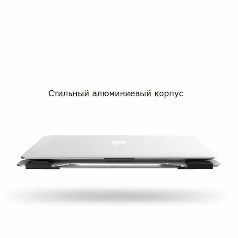 """35525 - Алюминиевая подставка-радиатор Orico NA15 для 14"""", 15.6"""" и 17-дюймовых ноутбуков (с двумя вентиляторами)"""