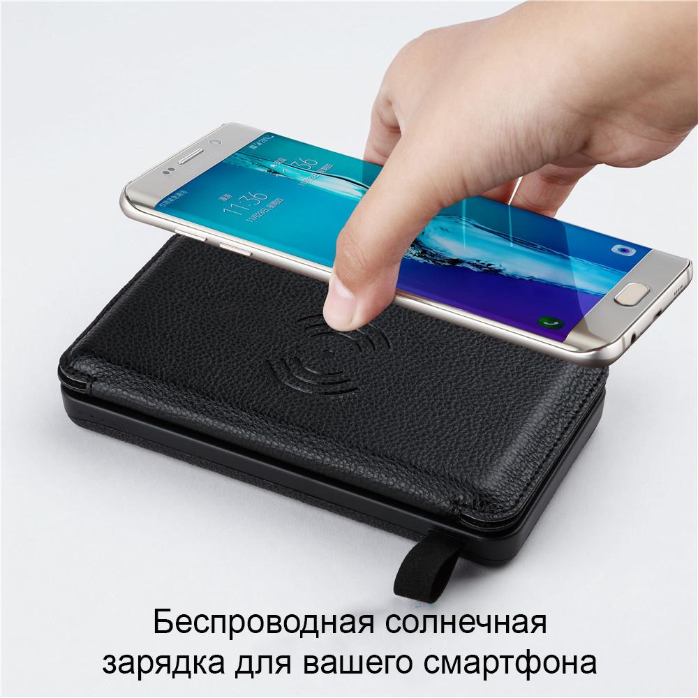 Внешний аккумулятор с солнечной панелью Power Bank 10000 мАч 20000 мАч 6 - Внешний аккумулятор с солнечной панелью Power Bank 10000 мАч/ 20000 мАч, 4/6/8 Вт, 2x USB