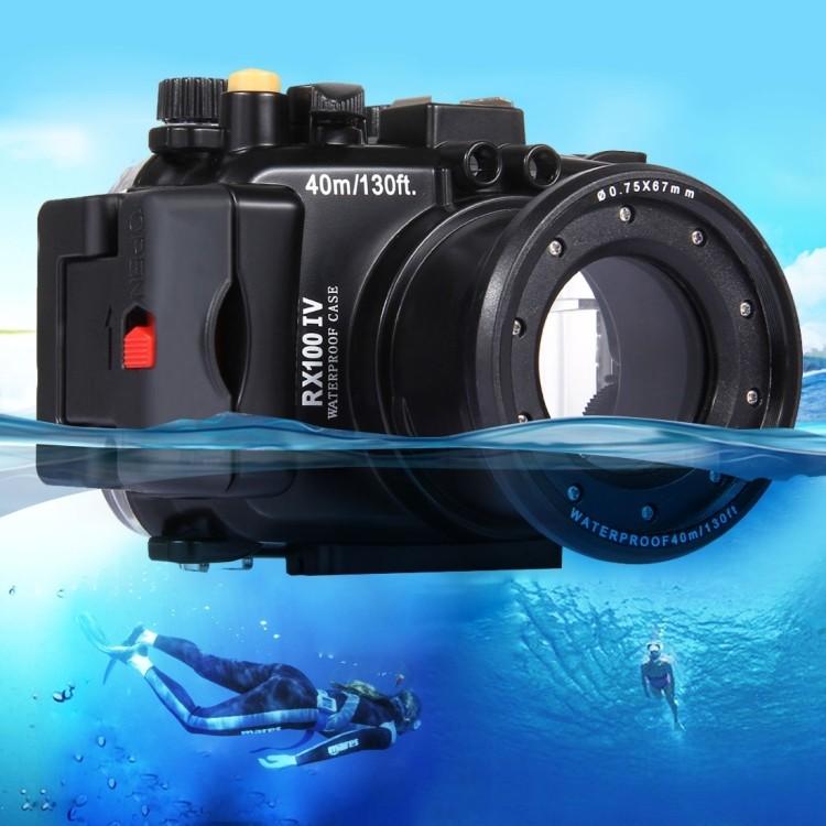 Водонепроницаемый корпус/ подводный чехол/ аквабокс  PULUZ для камеры Sony RX100 IV (черный)
