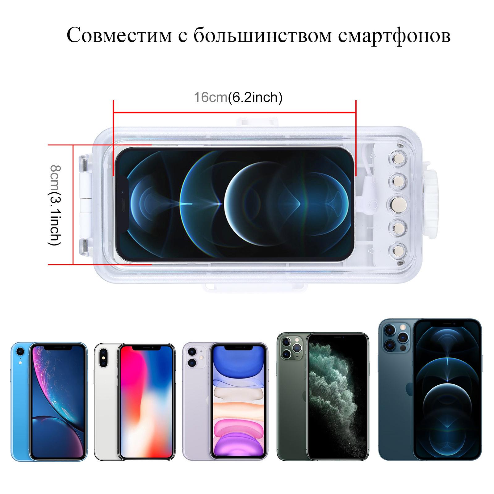 чехол для iPhone с iOS13.0 и выше от PULUZ 2 - Водонепроницаемый чехол для iPhone (с iOS13.0 и выше) от PULUZ, универсальный чехол для iPhone