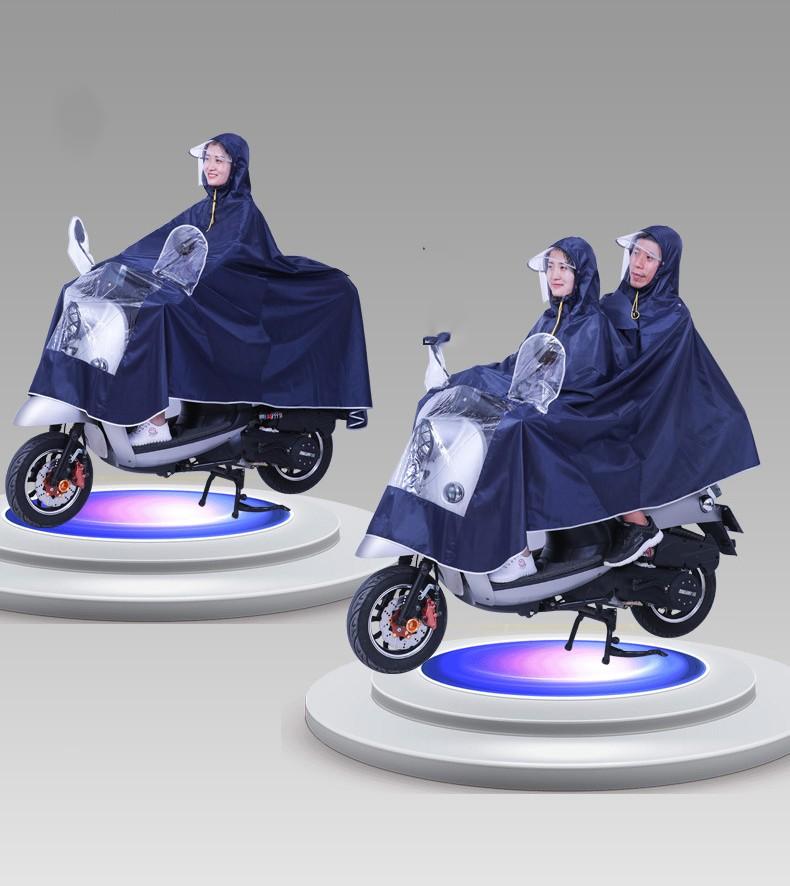 Двойной плащ дождевик для мотоциклистов и мопедистов с экраном для лица 11 - Двойной плащ-дождевик для мотоциклистов и мопедистов с экраном для лица и козырьком