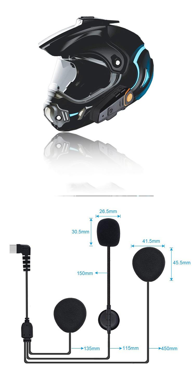 Мотогарнитура BT S2 Intercom 03 - Мотогарнитура BT-S2 Intercom - до 1000 м внутренняя связь, Bluetooth, FM радио, поддержка GPS, 450 мАч аккумулятор