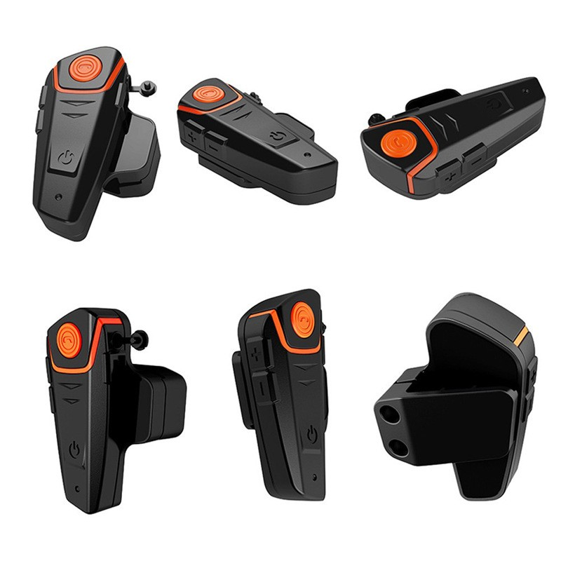 Мотогарнитура BT S2 Intercom 12 - Мотогарнитура BT-S2 Intercom - до 1000 м внутренняя связь, Bluetooth, FM радио, поддержка GPS, 450 мАч аккумулятор