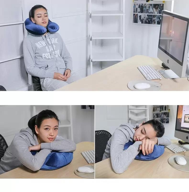 для сна – надувная подушка светонепроницаемая 3D маска 15 1 - Набор для сна - надувная подушка, светонепроницаемая 3D маска