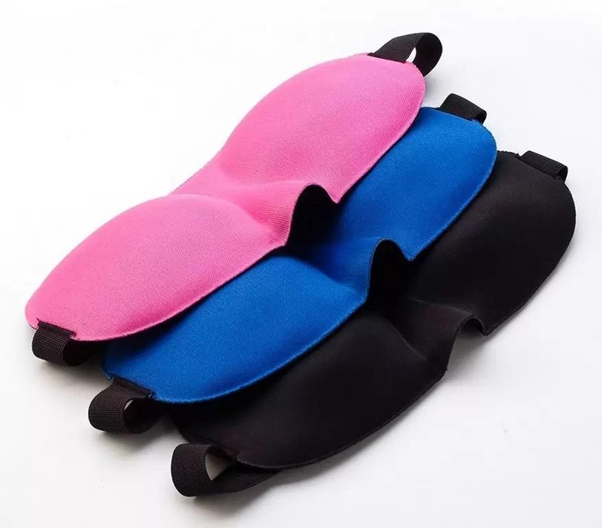 для сна – надувная подушка светонепроницаемая 3D маска 20 1 - Набор для сна - надувная подушка, светонепроницаемая 3D маска