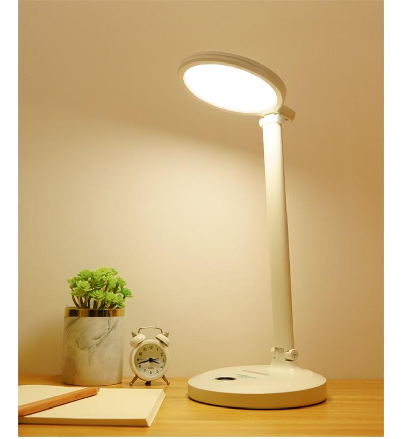 Настольная LED лампа с аккумулятором 03 - Настольная LED-лампа с аккумулятором: режимы света, USB-зарядка, подставка для телефона