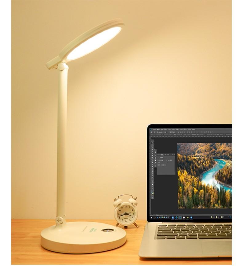 Настольная LED лампа с аккумулятором 04 - Настольная LED-лампа с аккумулятором: режимы света, USB-зарядка, подставка для телефона