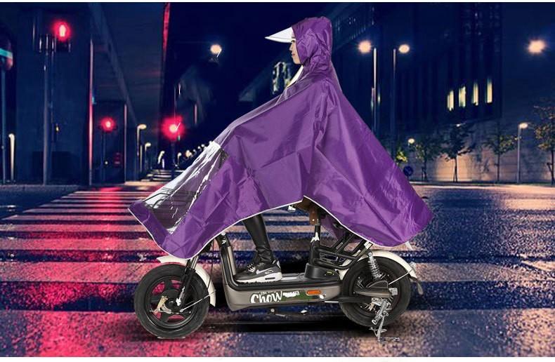 Плащ-дождевик для езды на мотоцикле/ мопеде: ткань Оксфорд
