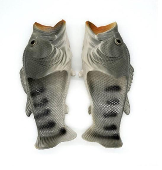 . Тапки рыбы 01 - Смешные пляжные тапки-рыбы/ шлепанцы в форме рыбы (рыбашаги): все размеры