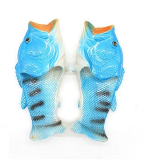 . Тапки рыбы 02 - Смешные пляжные тапки-рыбы/ шлепанцы в форме рыбы (рыбашаги): все размеры