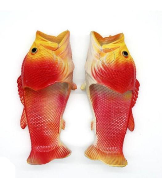 . Тапки рыбы 03 - Смешные пляжные тапки-рыбы/ шлепанцы в форме рыбы (рыбашаги): все размеры