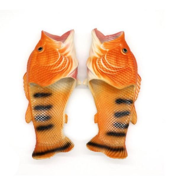 . Тапки рыбы 04 - Смешные пляжные тапки-рыбы/ шлепанцы в форме рыбы (рыбашаги): все размеры