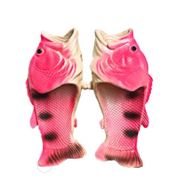 . Тапки рыбы 06 - Смешные пляжные тапки-рыбы/ шлепанцы в форме рыбы (рыбашаги): все размеры