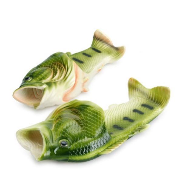 Смешные пляжные тапки-рыбы/ шлепанцы в форме рыбы (рыбашаги): все размеры