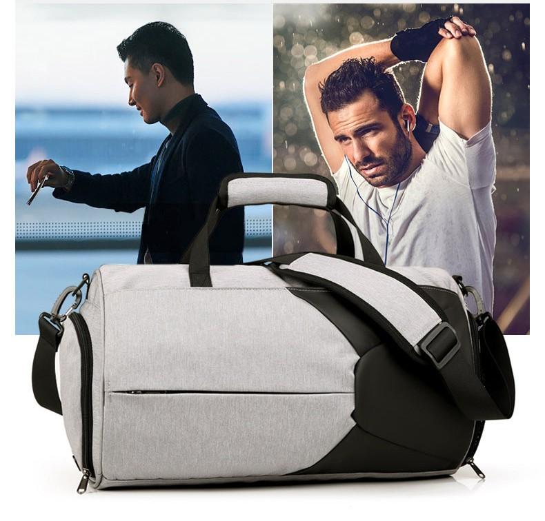 Спортивная водонепроницаемая сумка для плавания с раздельным хранением сухого и мокрого