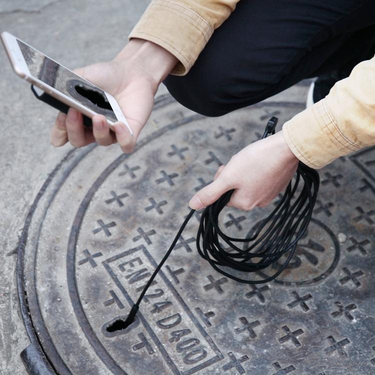 10 metrovyj besprovodnoj jendoskop 09 - 10-метровый беспроводной USB-эндоскоп - поддержка iOS, Android и Windows, 720p, Wi-Fi, 8 светодиодов, IP68, 600 мАч