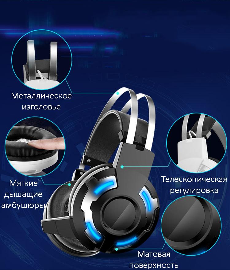 3543449640 1905338215 - Бюджетные игровые наушники X8S с микрофоном и подсветкой (Замена на игровые наушники Cosonic CD-618)