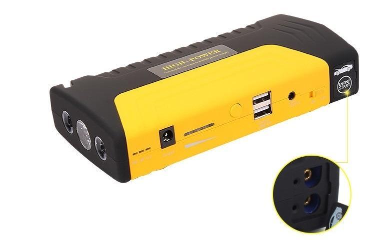 6 1 - Прикуриватель для автомобиля Jump Starter + повербанк 9000 мАч: 2 х USB 5V 2A, 12В 10А, стартер-кабели, адаптеры