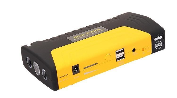Прикуриватель для автомобиля Jump Starter + повербанк 9000 мАч: 2 х USB 5V 2A, 12В 10А, стартер-кабели, адаптеры