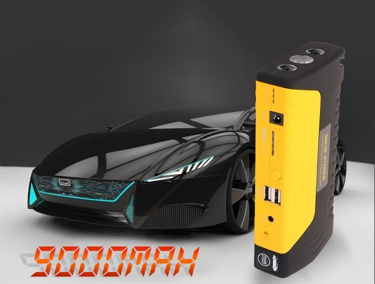 9412957512 1013102243 - Прикуриватель для автомобиля Jump Starter + повербанк 9000 мАч: 2 х USB 5V 2A, 12В 10А, стартер-кабели, адаптеры