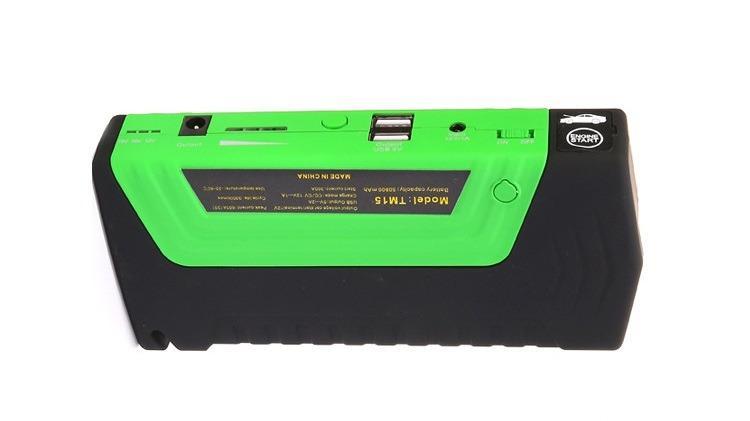 9412963445 1013102243 1 - Прикуриватель для автомобиля Jump Starter + повербанк 9000 мАч: 2 х USB 5V 2A, 12В 10А, стартер-кабели, адаптеры