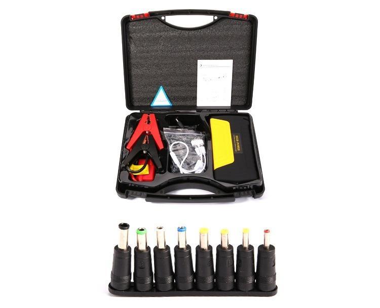 9433019991 1013102243 - Прикуриватель для автомобиля Jump Starter + повербанк 9000 мАч: 2 х USB 5V 2A, 12В 10А, стартер-кабели, адаптеры