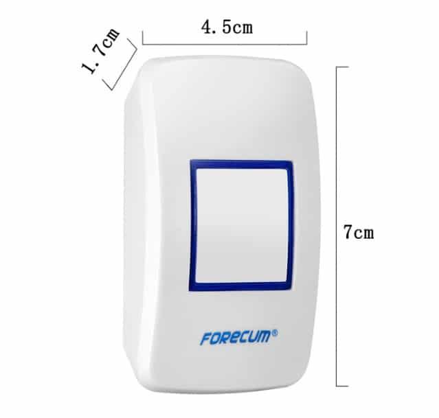 besprovodnoj dvernoj zvonok s signalizaciej forecum8 1f 06 - Беспроводной дверной звонок с сигнализацией Forecum 8-1f: ИК-датчик 3-5 м, 36 мелодий, 2 AC приемника, до 300 м диапазон