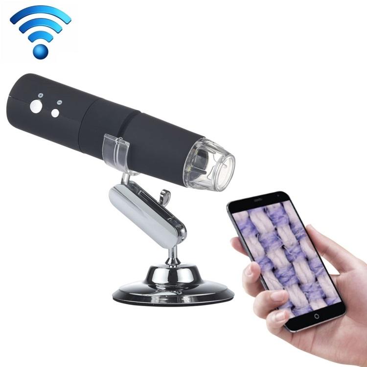 Цифровой USB-микроскоп 50X~1000X с подставкой: HD 1920х1080, Wi-Fi, встроенная батарея