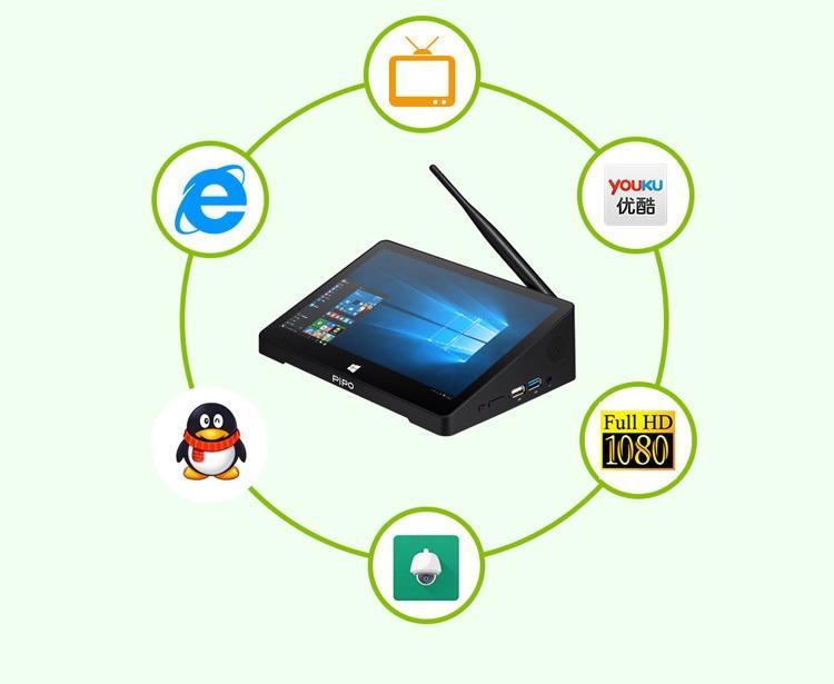 mini kompjuter pipo - Мини-компьютер PiPo X9S – дисплей 8.9 дюйма, Windows 10 + Android 5,1, 2 Гб ОЗУ, 32 Гб, 4x USB, HDMI, OTG