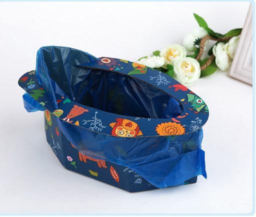 Одноразовый портативный детский горшок для путешествий: комплект на 4 использования