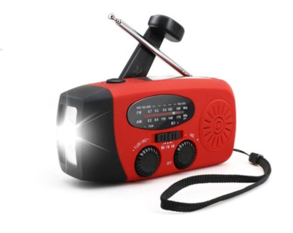 Радиоприемник WAY со встроенным фонарем, динамо-машиной, солнечной батареей и функцией Powerbank