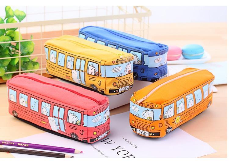 shkolnyj penal school bus na molnii 05 - Школьный пенал School Bus на молнии