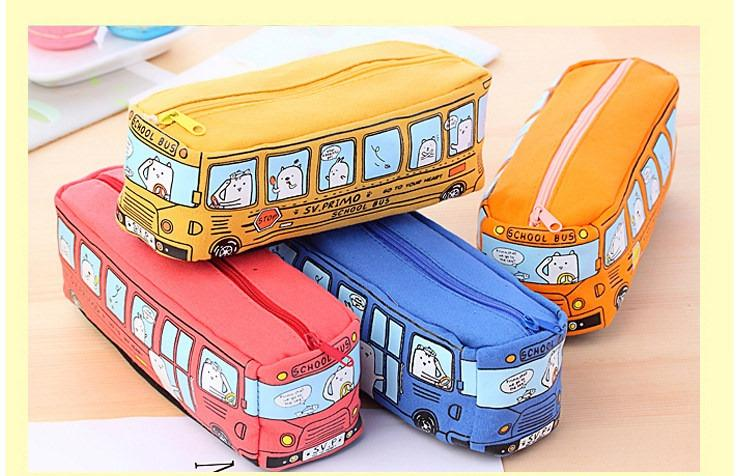 shkolnyj penal school bus na molnii 16 - Школьный пенал School Bus на молнии