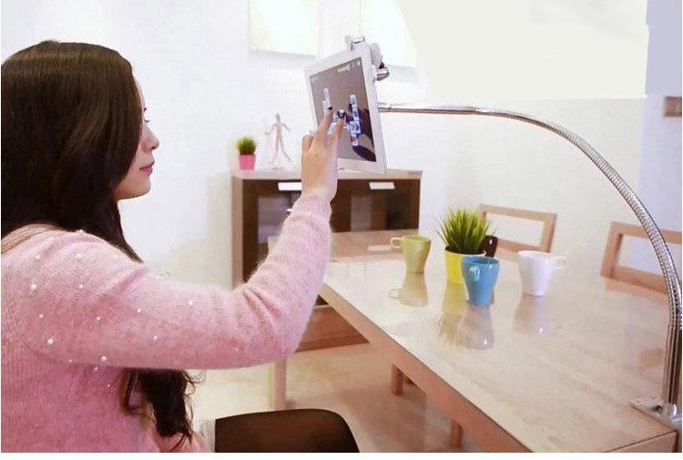 universalnyj gibkij derzhatel dlja smartfona plansheta lazypro 07 - Универсальный гибкий держатель для смартфона, планшета LazyPro (настольный, прикроватный)