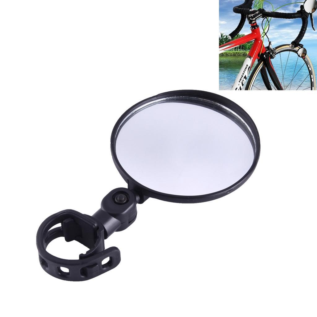 Зеркало заднего вида для велосипеда OQsport: крепление на руль 18-28 мм, 360° регулировка, диаметр 45 мм/75 мм, выпуклое 118231