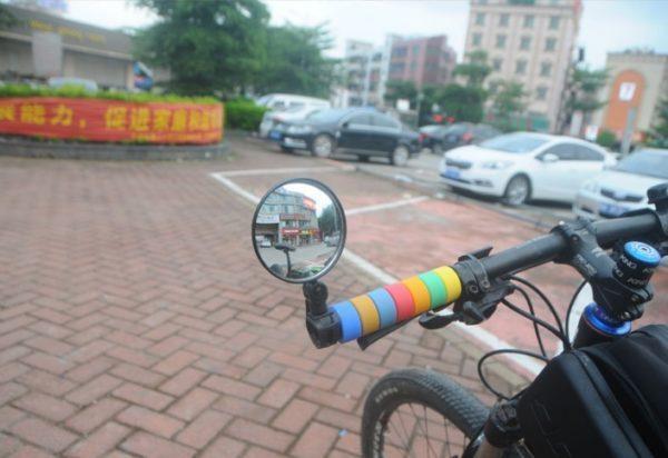 4 1 - Зеркало заднего вида для велосипеда OQsport: крепление на руль 18-28 мм, 360° регулировка, диаметр 45 мм/75 мм, выпуклое