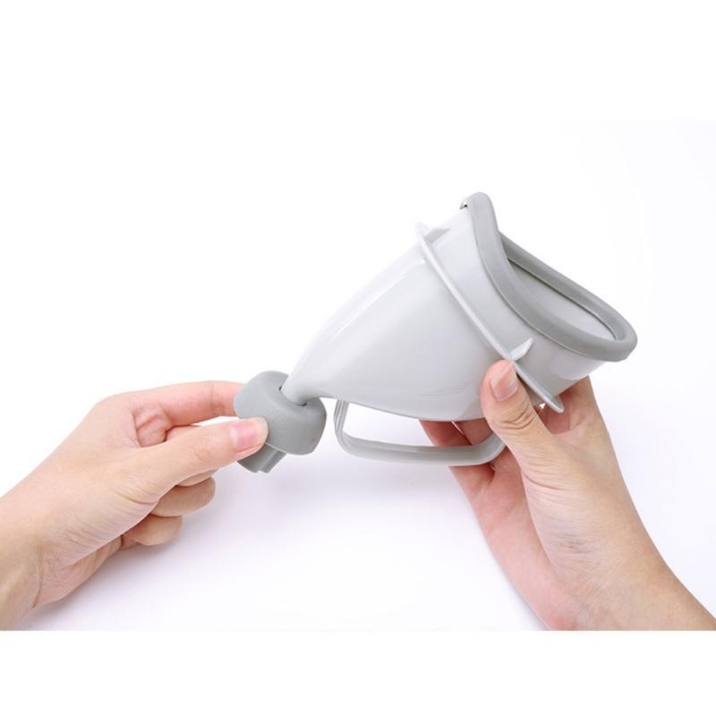 Портативный дорожный писсуар (туалет-лейка) для мужчин и женщин UniRina: многоразовый, прикручивается к бутылке, с держателем 118256