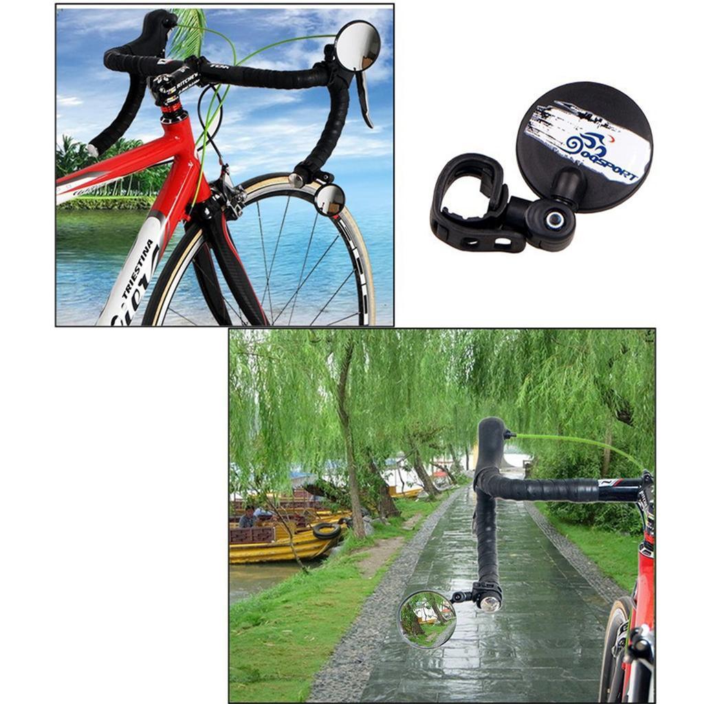 Зеркало заднего вида для велосипеда OQsport: крепление на руль 18-28 мм, 360° регулировка, диаметр 45 мм/75 мм, выпуклое 118234