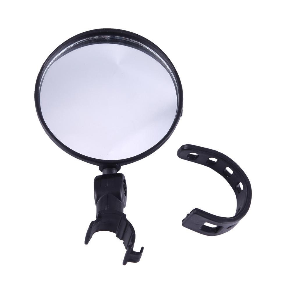 Зеркало заднего вида для велосипеда OQsport: крепление на руль 18-28 мм, 360° регулировка, диаметр 45 мм/75 мм, выпуклое 118233