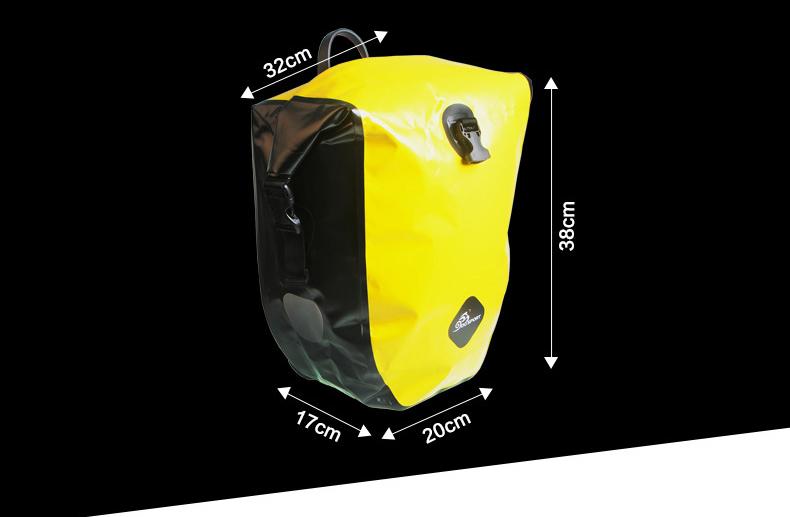 vodonepronicaemaja sumka shtany na bagazhnik velosipeda velobaul oqsport 15 - Водонепроницаемая сумка-штаны на багажник велосипеда (велобаул) OQsport: двойная и одинарная (25 л) модели, IPX5