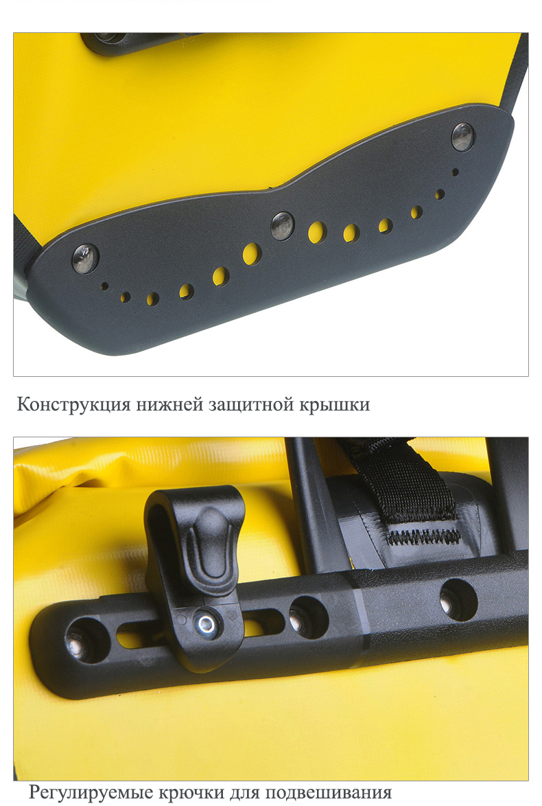 vodonepronicaemaja sumka shtany na bagazhnik velosipeda velobaul oqsport 21 - Водонепроницаемая сумка-штаны на багажник велосипеда (велобаул) OQsport: двойная и одинарная (25 л) модели, IPX5