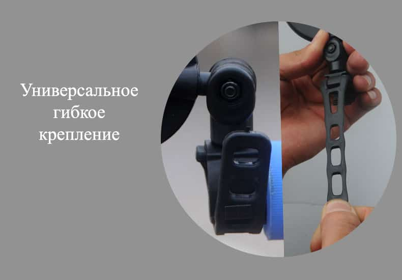 zerkalo zadnego vida dlja velosipeda oqsport 10 - Зеркало заднего вида для велосипеда OQsport: крепление на руль 18-28 мм, 360° регулировка, диаметр 45 мм/75 мм, выпуклое