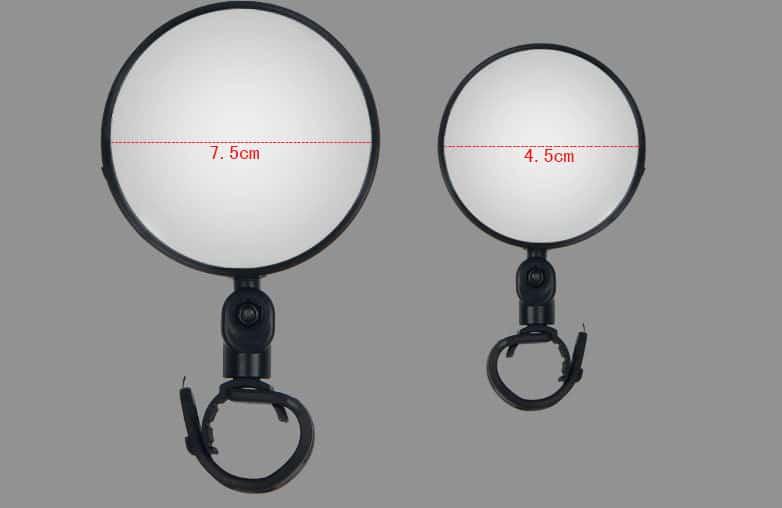 zerkalo zadnego vida dlja velosipeda oqsport 15 - Зеркало заднего вида для велосипеда OQsport: крепление на руль 18-28 мм, 360° регулировка, диаметр 45 мм/75 мм, выпуклое
