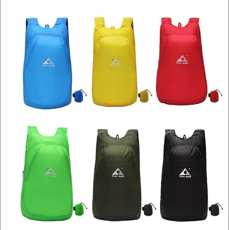 Ультралегкий складной рюкзак PLAY-KING 20 л – в сложенном виде помещается в кулаке, 75г, водоотталкивающий полиэстер 216553