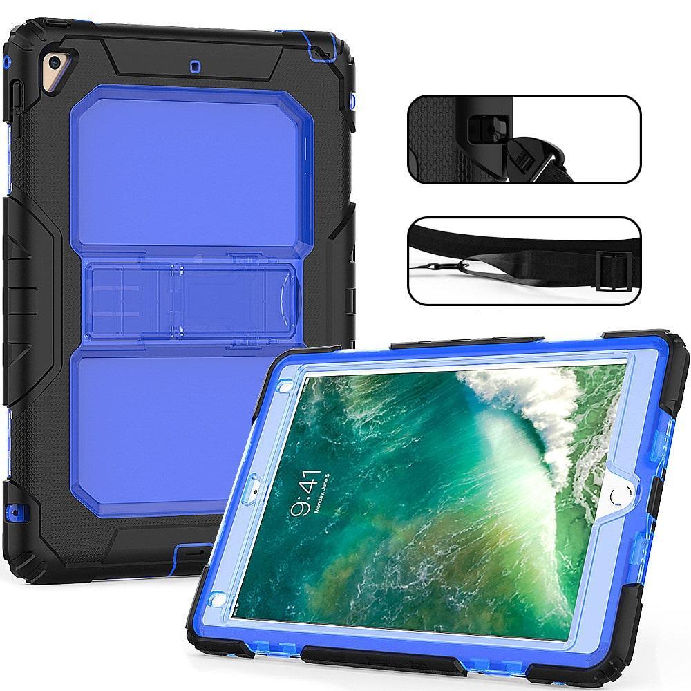 Противоударный чехол для планшетов iPad, Samsung Galaxy Tab: защитная конструкция 3 в 1 (корпус+экран), встроенная подставка 216856