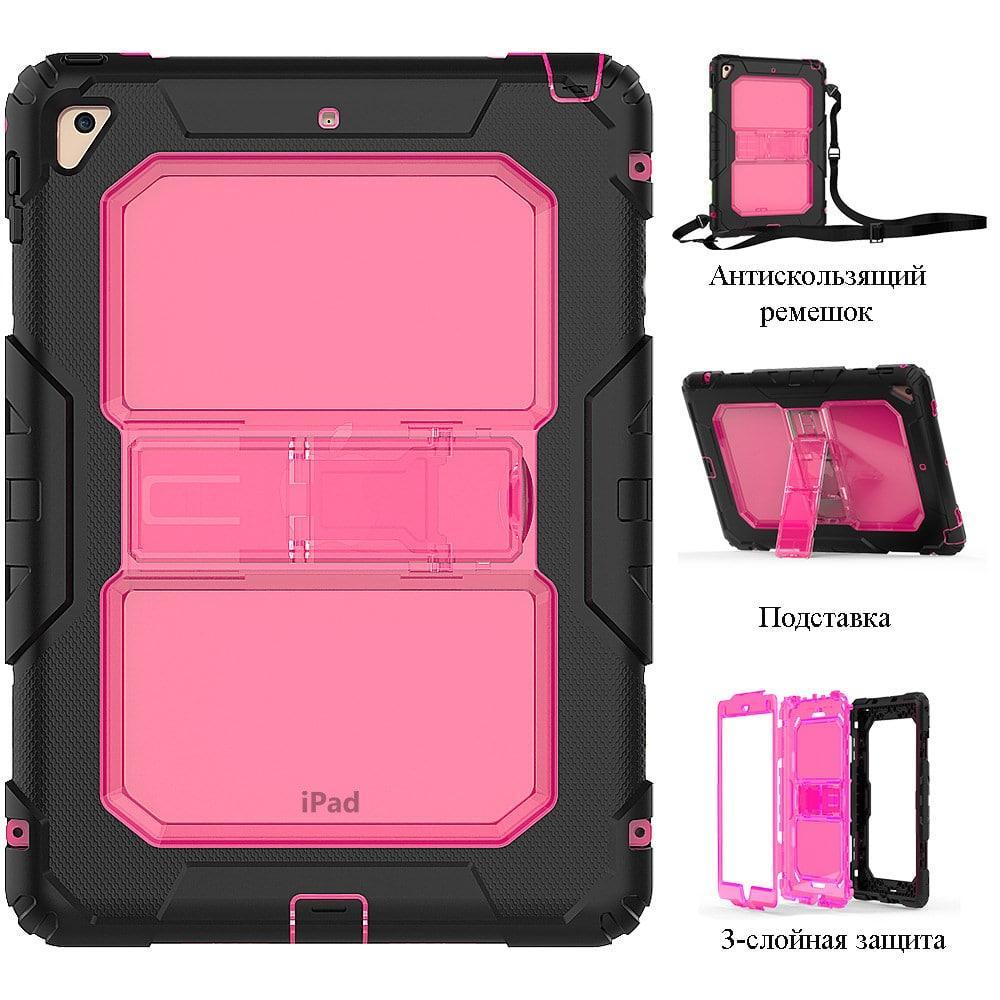 Противоударный чехол для планшетов iPad, Samsung Galaxy Tab: защитная конструкция 3 в 1 (корпус+экран), встроенная подставка 216861
