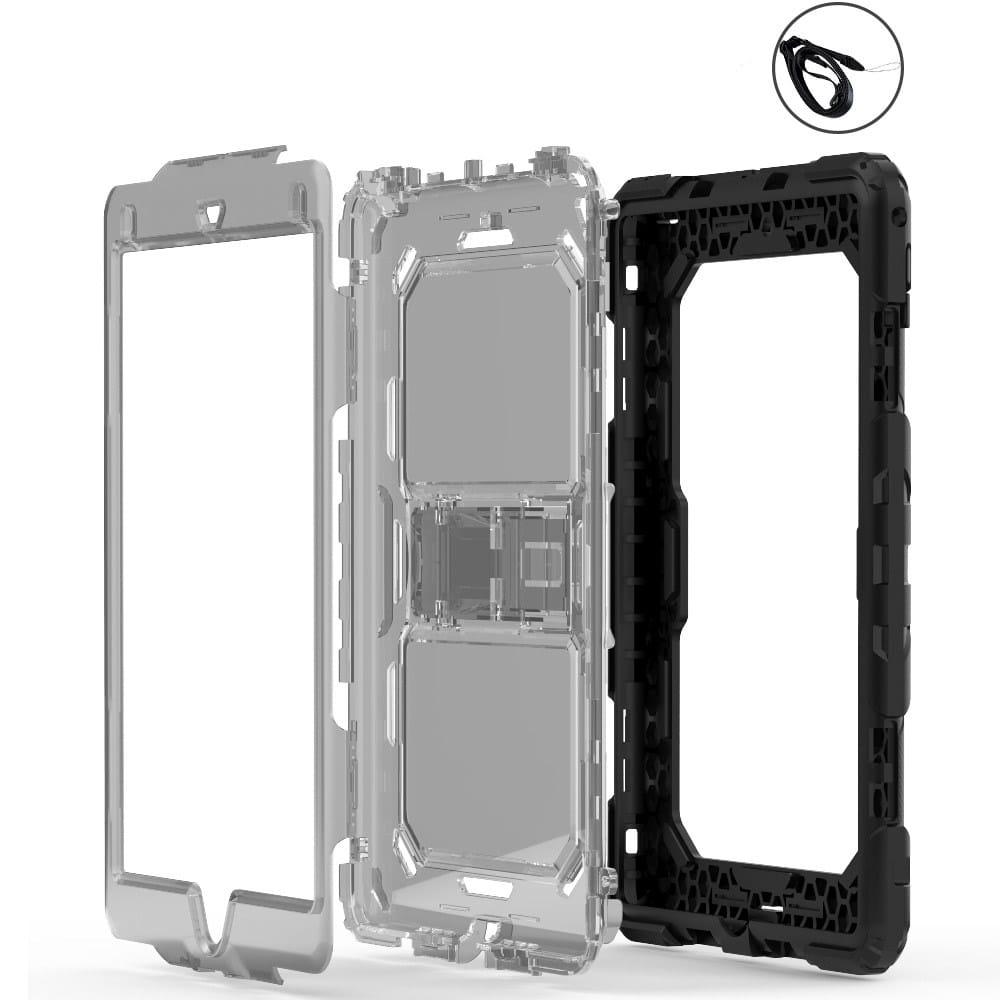 Противоударный чехол для планшетов iPad, Samsung Galaxy Tab: защитная конструкция 3 в 1 (корпус+экран), встроенная подставка 216863