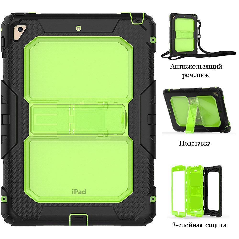 Противоударный чехол для планшетов iPad, Samsung Galaxy Tab: защитная конструкция 3 в 1 (корпус+экран), встроенная подставка 216872