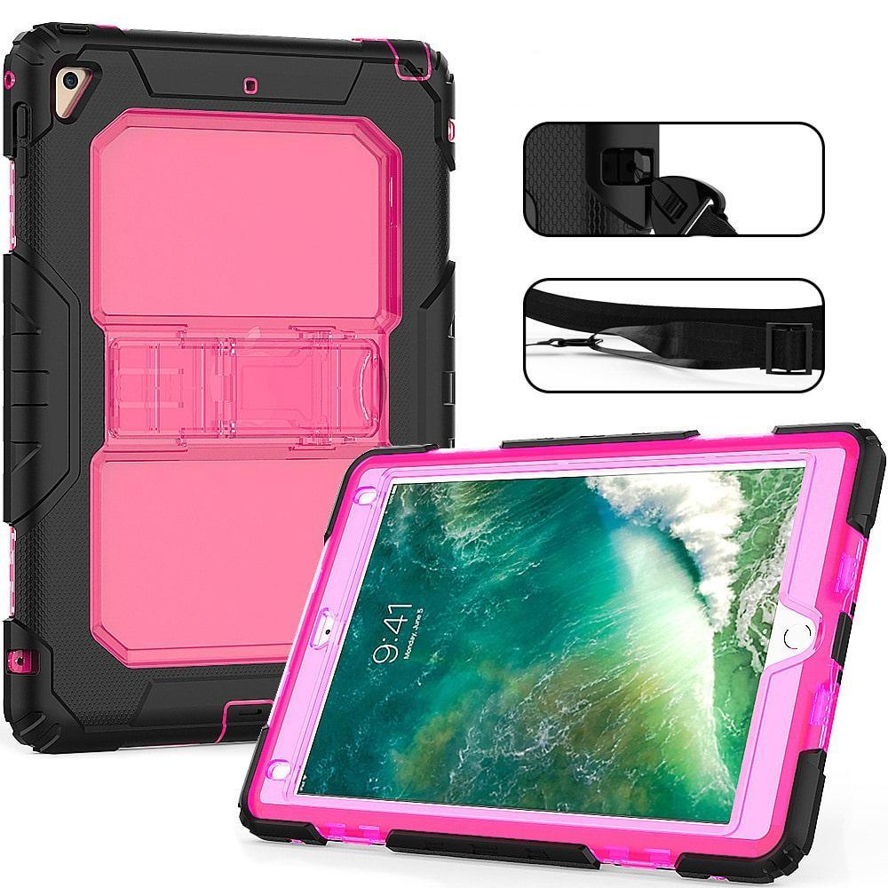 Противоударный чехол для планшетов iPad, Samsung Galaxy Tab: защитная конструкция 3 в 1 (корпус+экран), встроенная подставка 216874