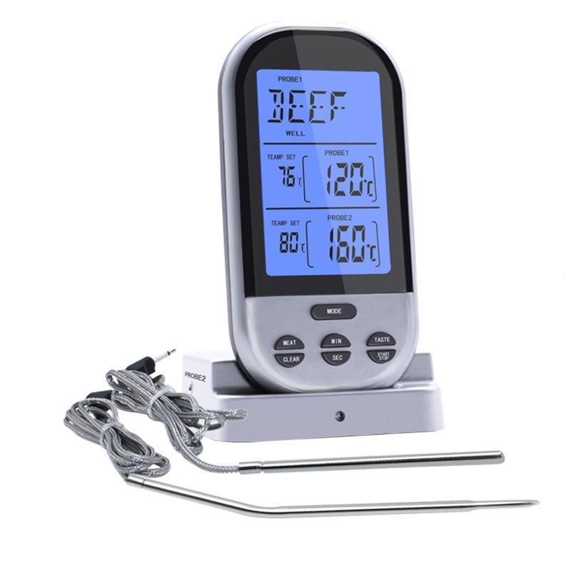 Беспроводной электронный термометр для мяса Skanus Meat Pro с двумя радио щупами